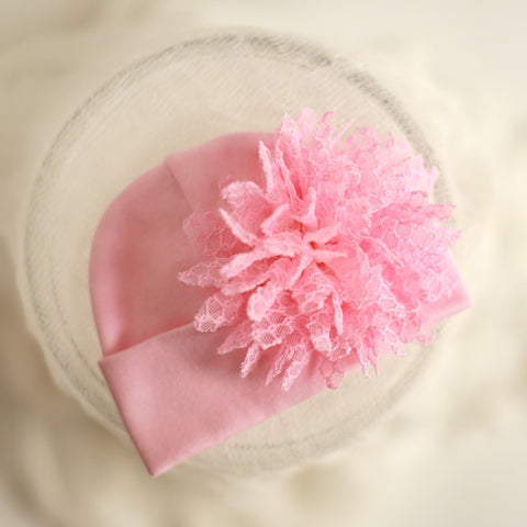 'Posh Flower' Hospital Hat // Pink