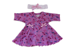 Preemie Dress + Headband // Sparkle-NICU Dresses-UniqueKidz