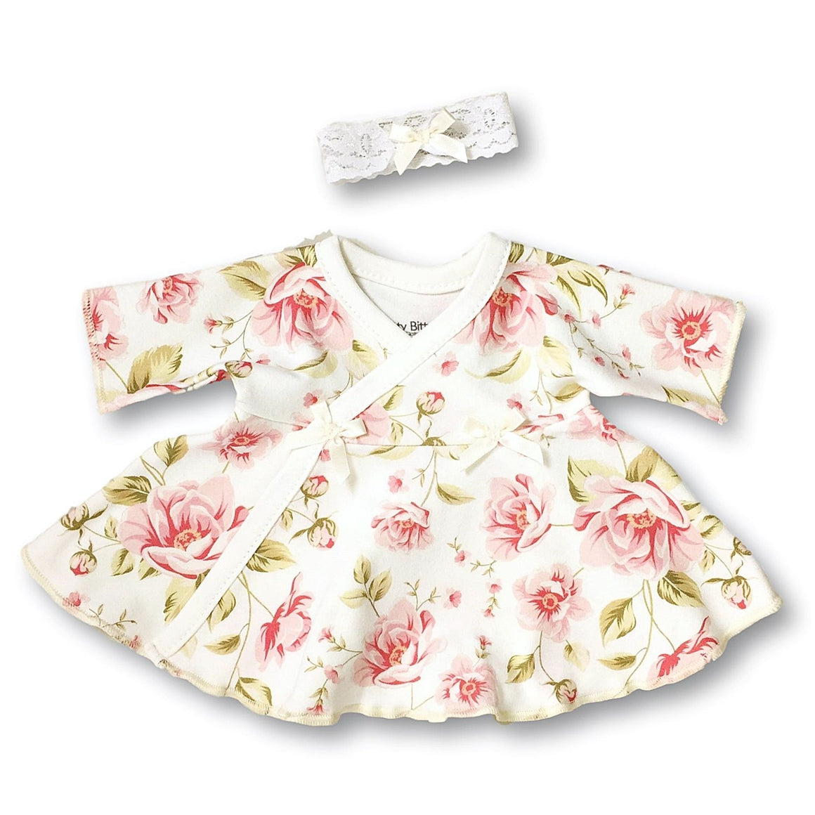 Preemie Dress + Headband // Vintage Roses-NICU Dresses-UniqueKidz