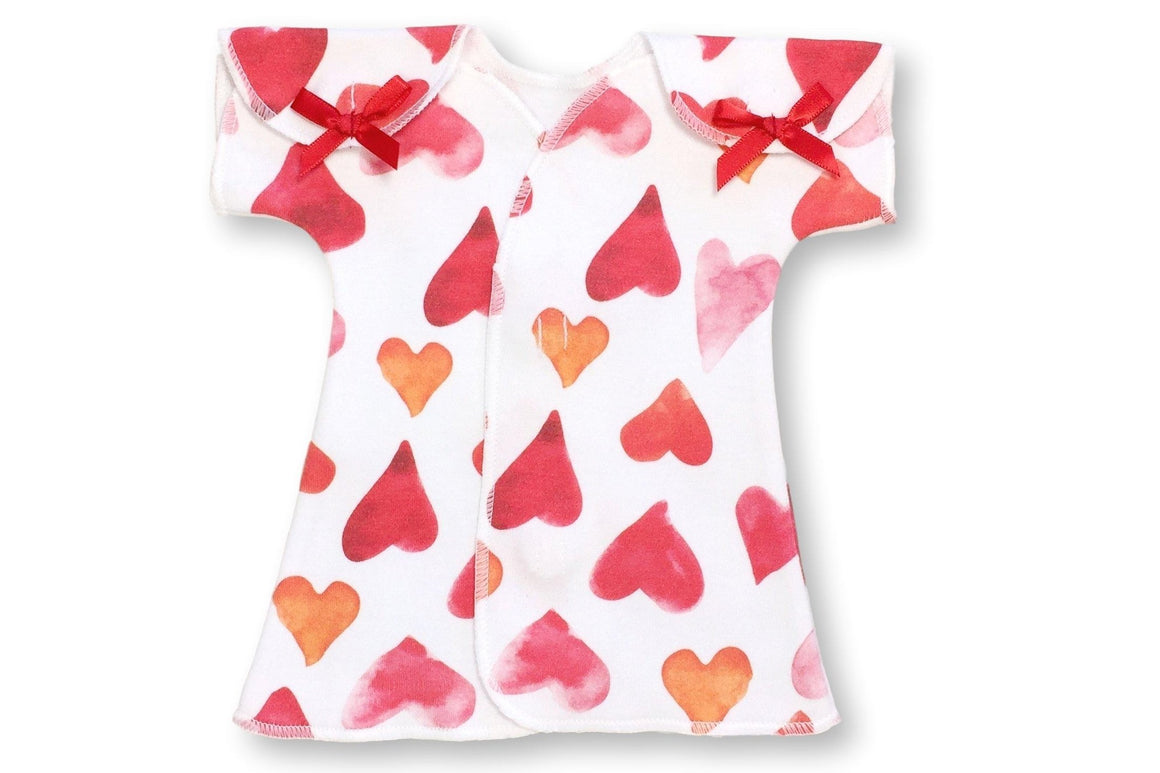 Preemie Fit + Flare Dress // Watercolor Hearts-Nicu Dress-UniqueKidz