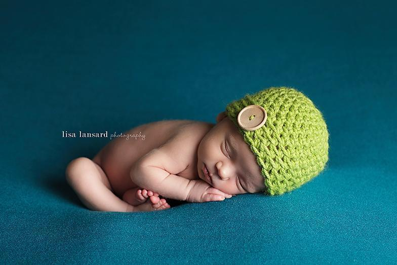 Preemie 'James' Button Hat // Lime-Button Hat-UniqueKidz