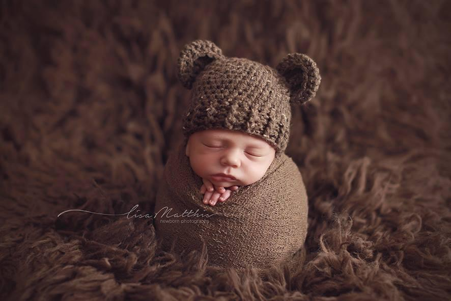 Preemie 'Little Bear' Crochet Hat // Brownie-Little Bear Hat-UniqueKidz
