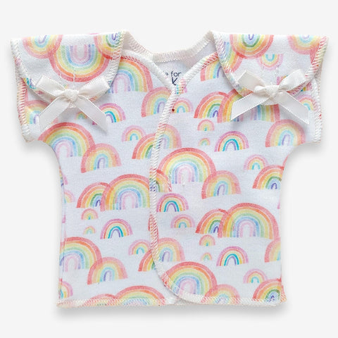 Organic Preemie T-Shirt // Over the Rainbow