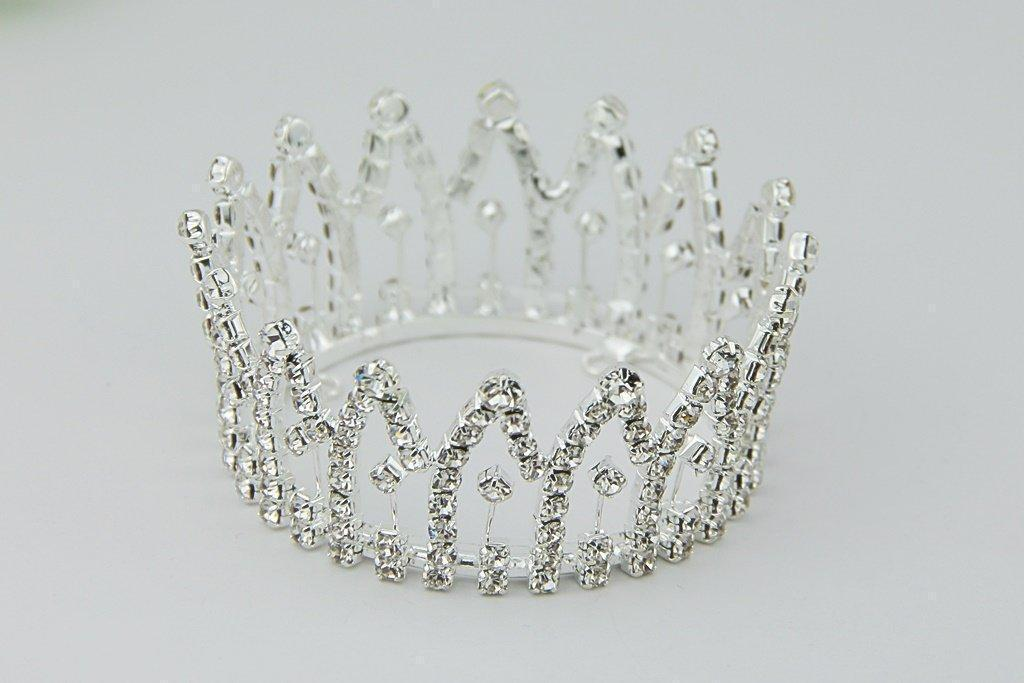 Rhinestone Mini Crown // Princess Jaelyn-Mini Crowns-UniqueKidz