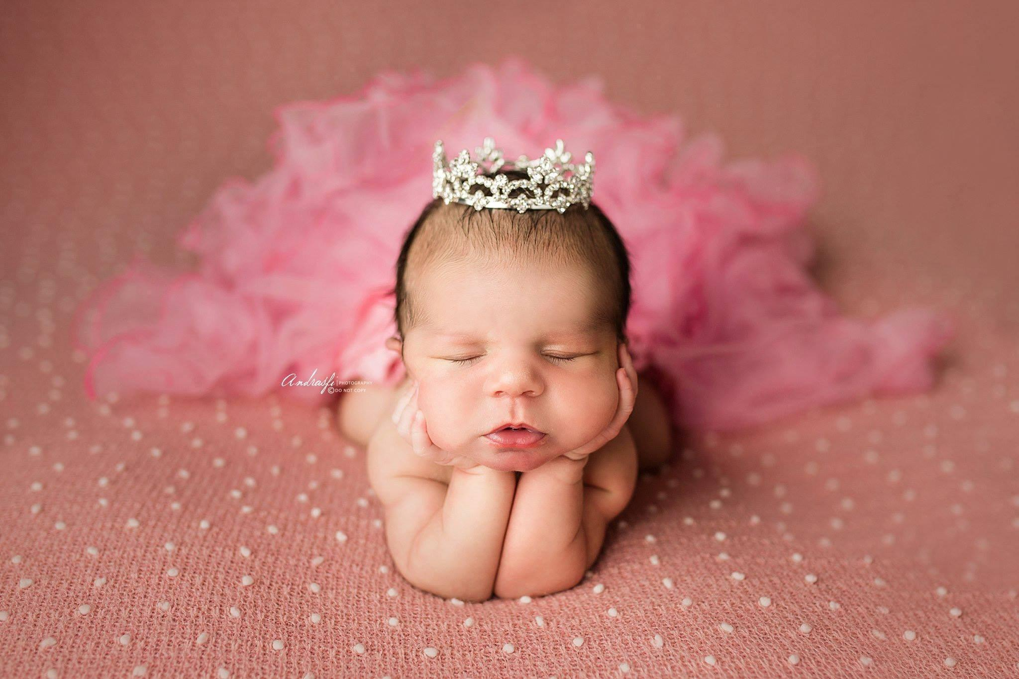 Rhinestone Mini Crown // Princess Mya - Pink-mini-UniqueKidz