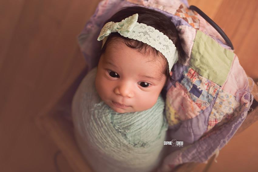 'Tessa' Lace Bow Headband // Mint-Tessa Lace bow headband-UniqueKidz