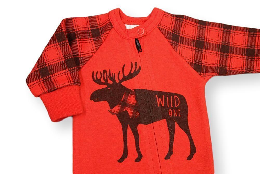 Wild One Sleeper // Red-Wild One Sleeper-UniqueKidz