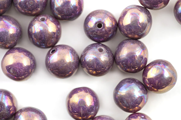 8mm Czech Druk Glass Beads
