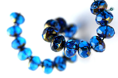 Czech Glass Faceted Rondelles
