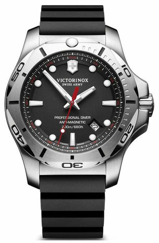 Victorinox Swiss Army INOX Diver Stainless Steel Black 45mm 241733 Watch