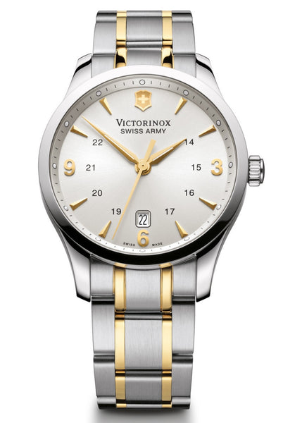 Victorinox Swiss Army Alliance Two Tone Silver Dial 40mm 241477 Watch