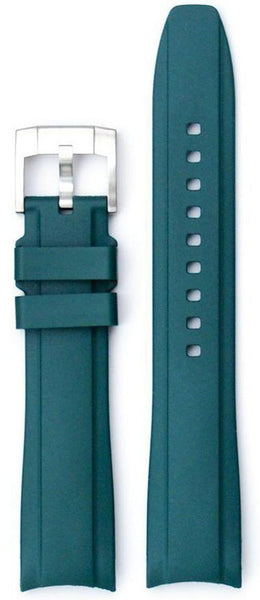 Everest Curved Green End Rubber With Tang Buckle For Rolex 40mm Model