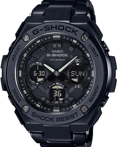 G-Shock Analog Aviation Series Day-Date Black Stainless Steel GSTS110BD-1BCR Watch