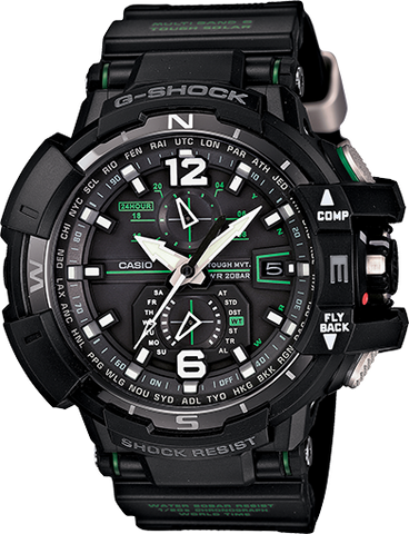 G-Shock Analog Aviation Series Day-Date Black GWA-1100-1A3 Watch