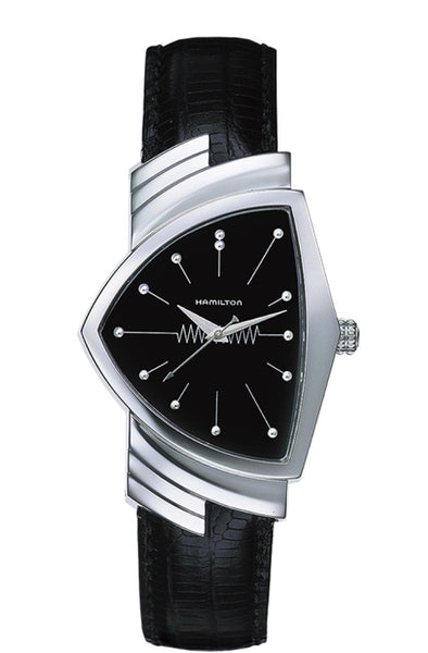 Hamilton Ventura Stainless Steel Quartz Black Dial H24411732 Watch