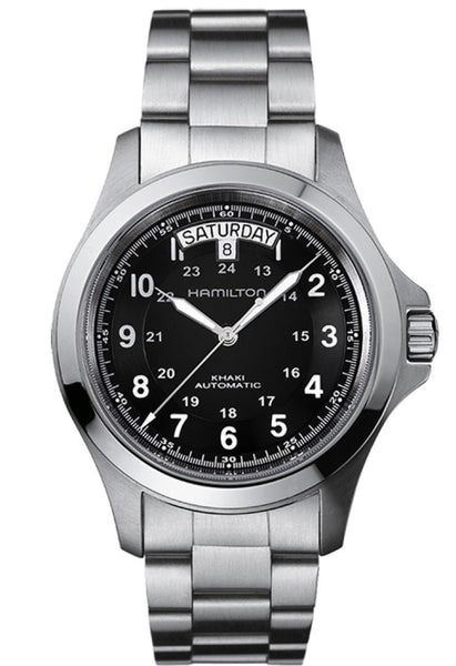 Hamilton Khaki King II Day Date Automatic Stainless Steel Black Dial 40mm H64455133 Watch