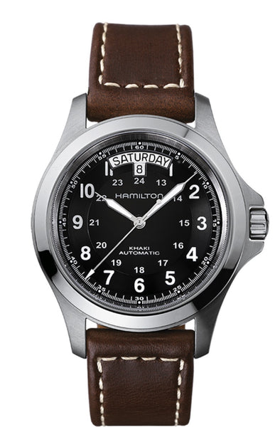 Hamilton Khaki King II Day Date Automatic Stainless Steel Black Dial 40mm H64455533 Watch