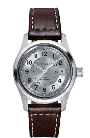Hamilton Khaki Field Automatic Stainless Steel Silver Dial 38mm Watch