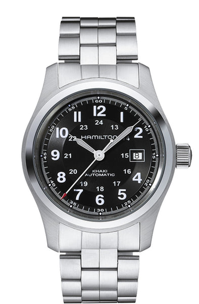 Hamilton Khaki Field Automatic Stainless Steel Black Dial 42mm H70515137 Watch