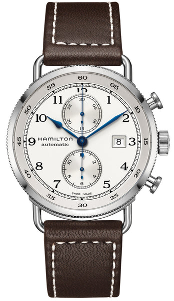 Hamilton Khaki Navy Pioneer Chronograph Automatic 44mm Silver Dial H77706553 Watch