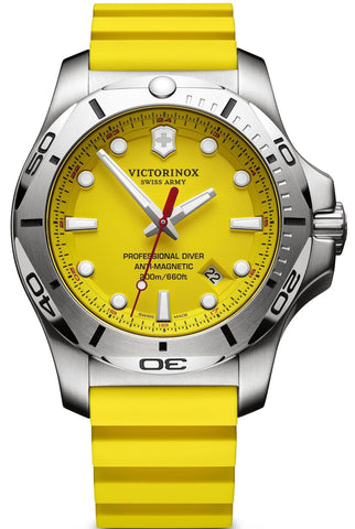 Victorinox Swiss Army INOX Diver Stainless Steel Yellow 45mm 241735.1 Watch