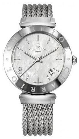 Charriol Alexandre C 34mm Stainless Steel MOP Quartz Watch