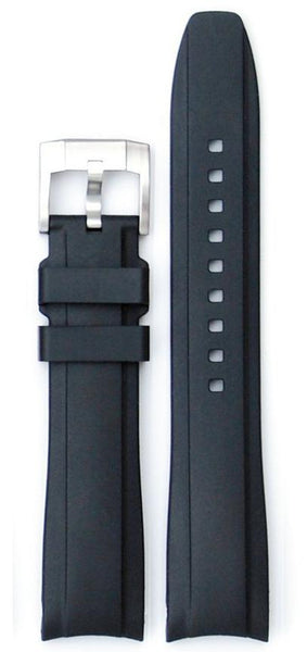 Everest Curved Black End Rubber With Tang Buckle For Tudor Heritage 41mm