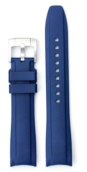 Everest Curved Blue End Rubber With Tang Buckle For Tudor Heritage 41mm