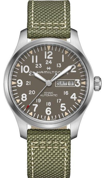 Hamilton Khaki Field Day Date Automatic Day Date Stainless Steel H70535081 Watch