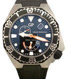 Girard Perregaux Sea Hawk Black Dial Rubber Auto 49960 Steel B&P Watch