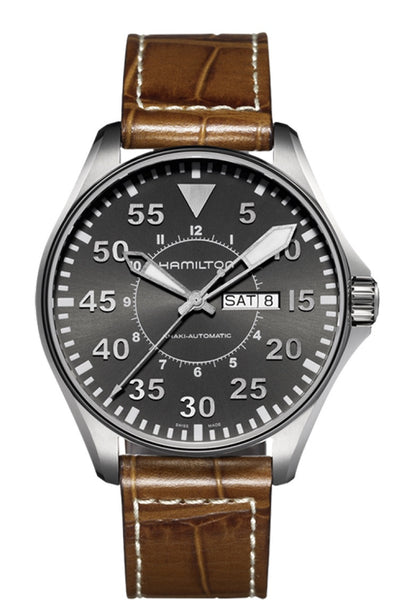 Hamilton Khaki Pilot Automatic Stainless Steel 46mm Grey Dial H64715885 Watch