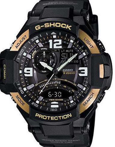 G-Shock Analog-Digital Aviator Black Resin Strap 51X52mm GA1000-9GCR Watch