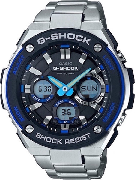 G-Shock Analog Aviation Series Day Date Stainless Steel GSTS100D-1A2 Watch