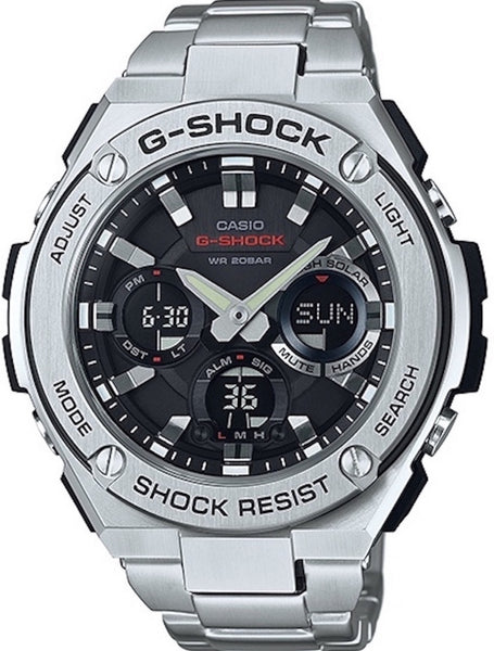 G-Shock Analog Aviation Series Day Date Stainless Steel GST110D-1A9CR Watch