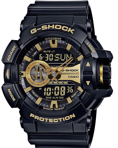 G-Shock Analog-Digital Black & Gold Resin Strap GA400GB-1A9CR Watch