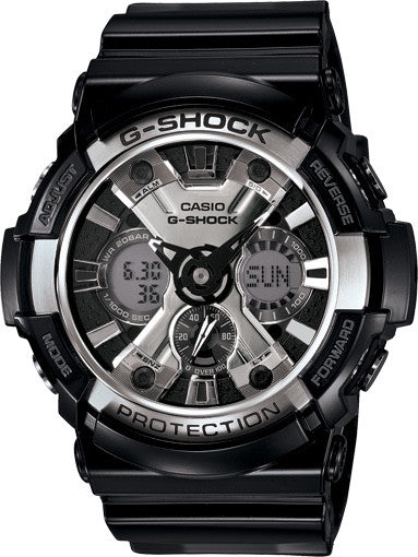 G-Shock Analog Digital Black Stainless Bezel GA200BW-1A Watch