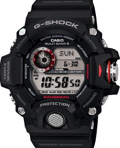 G-Shock Digital Rangeman Black Resin Strap 54X55mm Watch GW9400-1