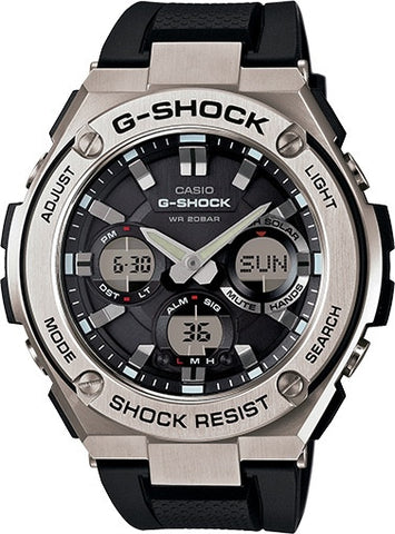 G-Shock Analog Aviation Series Day Date Stainless Steel GSTS110-1A Watch