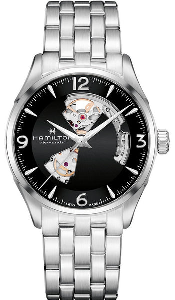 Hamilton Jazzmaster Open Heart Automatic Stainless Steel Black Dial 42mm H32705131 Watch