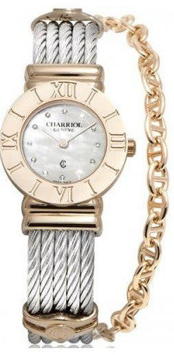 Charriol St-Tropez Classic Rose Gold PVD Stainless Steel 24.5mm Watch