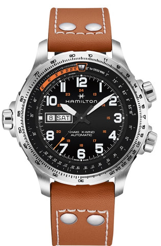 Hamilton Khaki X-Wind Day Date Automatic Steel 45mm H77755533 Watch