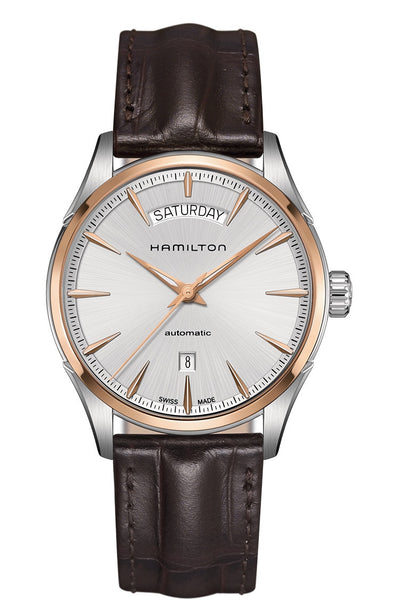 Hamilton Jazzmaster Day Date Automatic Silver Dial Two Tone 42mm H42525551 Watch