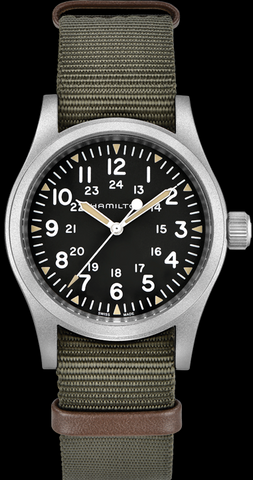 Hamilton Khaki Field Hand-Winding 38mm Stainless Steel Watch
