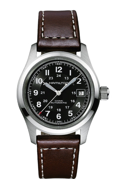 Hamilton Khaki Field Automatic Stainless Steel Black Dial 38mm H70455533 Watch