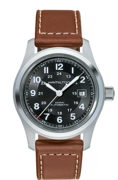 Hamilton Khaki Field Automatic Stainless Steel Black Dial 42mm H70555533 Watch