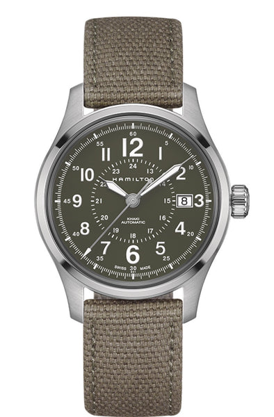 Hamilton Khaki Field Automatic Stainless Steel Green Dial 40mm H70595963 Watch