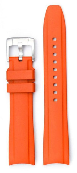 Everest Curved Orange End Rubber With Buckle For Tudor Heritage 41mm