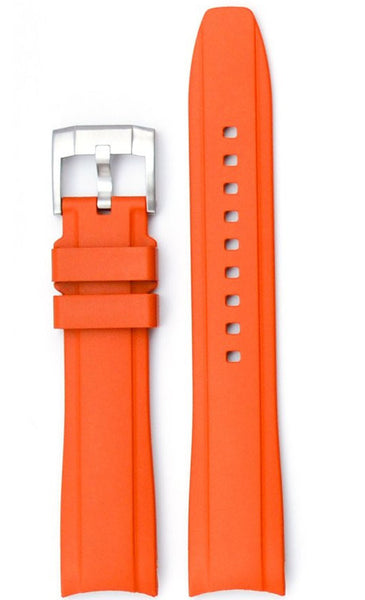 Everest Curved Orange End Rubber with Tang Buckle For Rolex 40mm Model