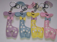 Handmade Mini Elephant PU Leather Keychain/Ring, Purse Charm, Snap Tab