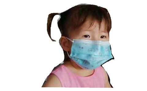 Disposable Kids Level 2 Medical Sterile Face Mask 3 PLY Elastic Earloop Protective Children Face Masks - 50 Pieces Value Pack